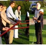 Schwert-Übung vor dem Golftraining. Wir machen unsere Übungen im März nicht im Freien!