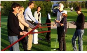 Schwert-Übung vor dem Golftraining