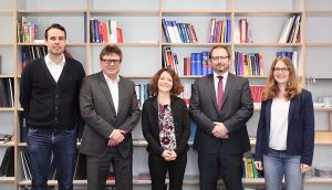 v. l. n. r. Ralf Gutmann, Prof. Dr. Peter Dohm, Ramona Schlesier, Dr. Markus Maier, Nina Bünte