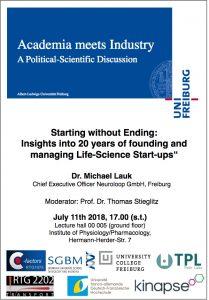 Plakat Academia meets Industry