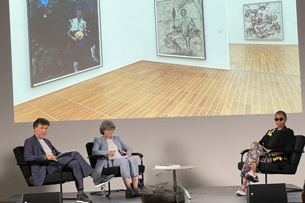 Kara Walker im Gespräch mit Dr. Anita Haldemann, Leiterin des Kupferstichkabinetts und Kuratorin der Ausstellung
