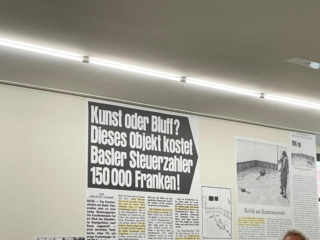 Foto aufgenommen in der Ausstellung 24 Stunden Beuys